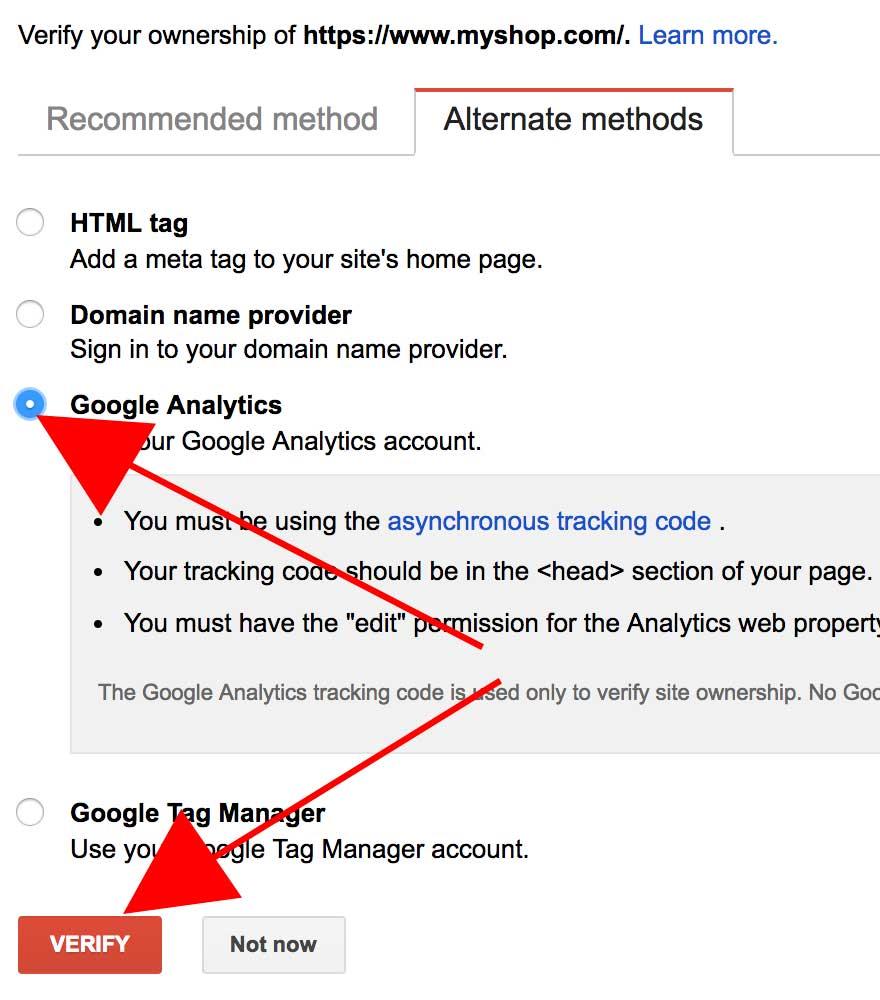 Google Sitemap Verification
