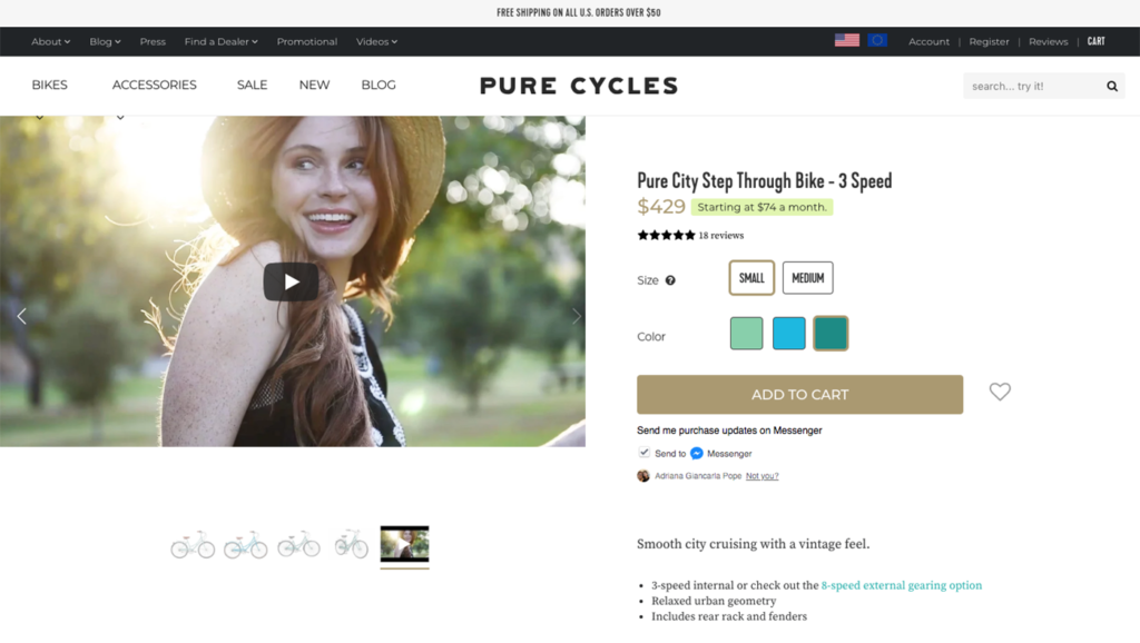 pure cycles bicycles