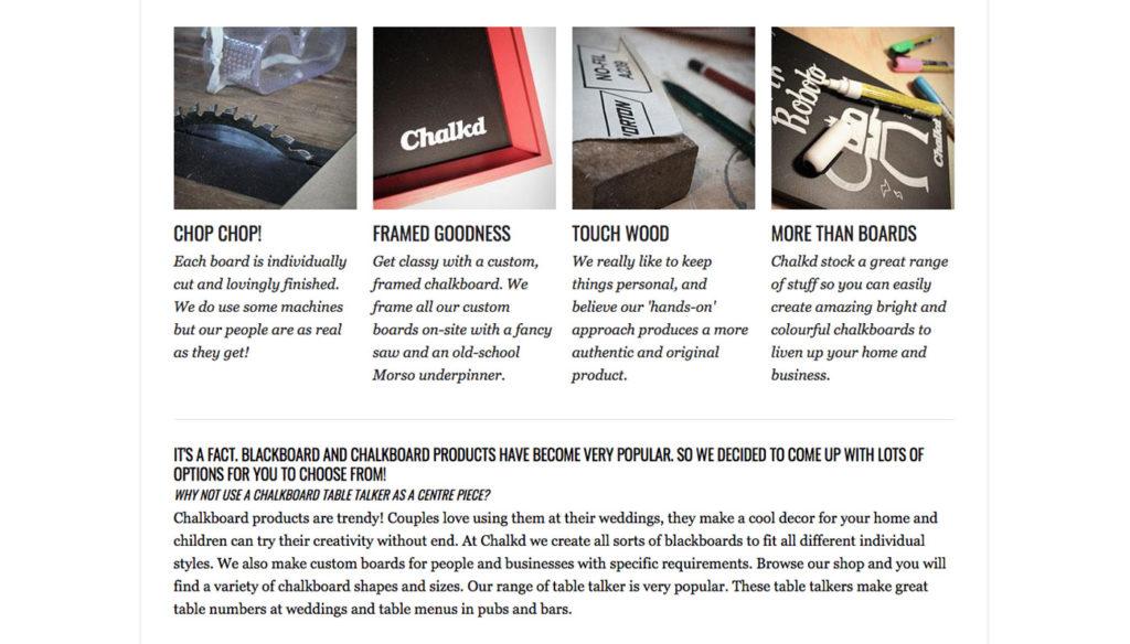 chalkd ecommerce design