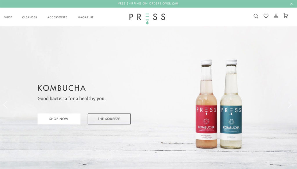 press london ecommerce website