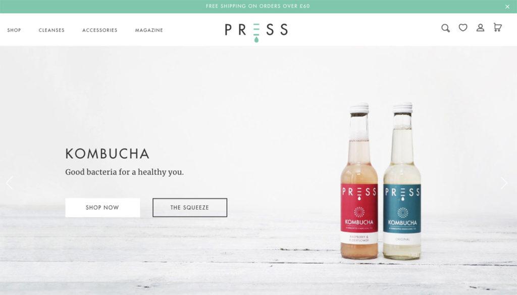 press london ecommerce website