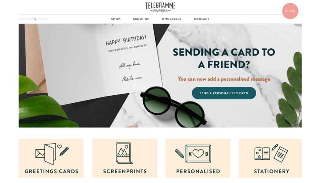 Telegramme online store