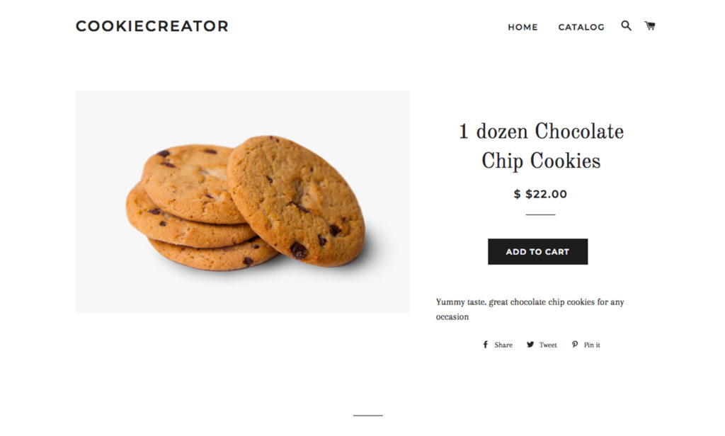 chocolate chip cookie product
