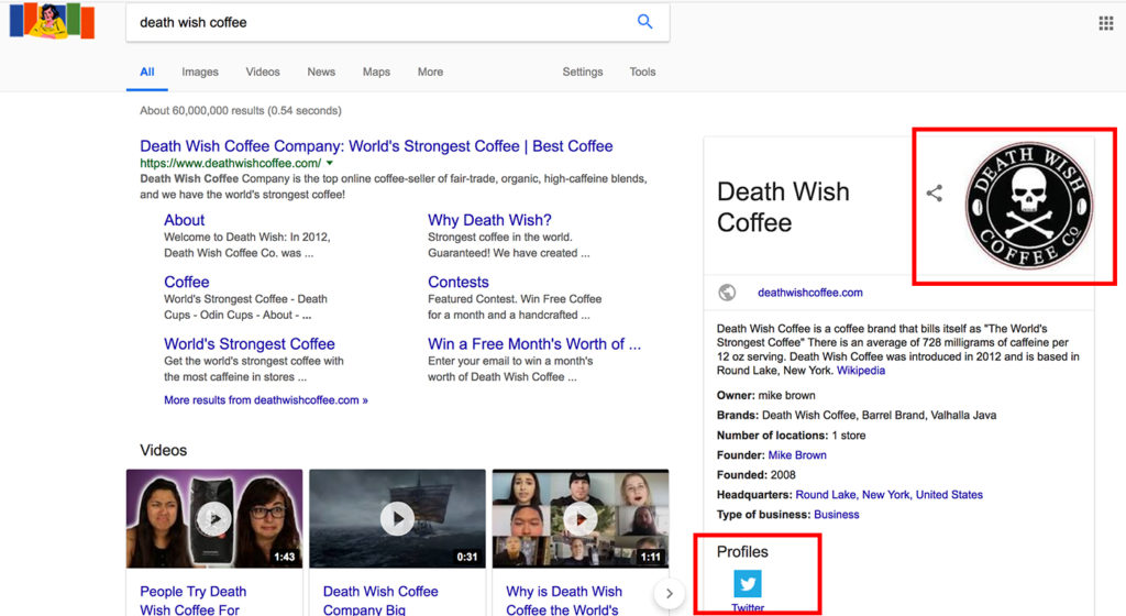 death wish coffee knowledge graph