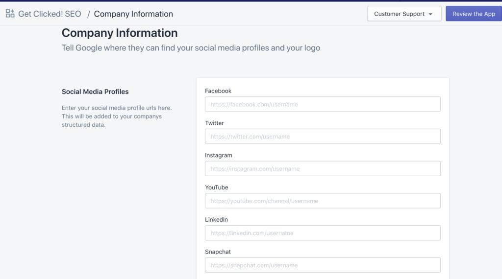 social media profiles google search