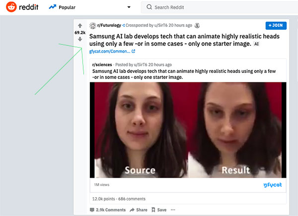 getting featured on the front page of reddit