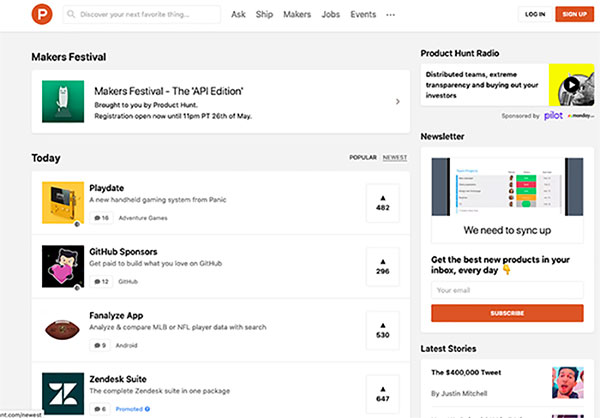get featured product hunt