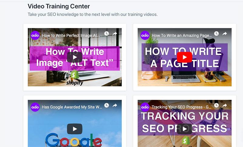 seo video tutorials shopify