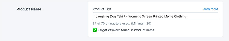 shopify product title