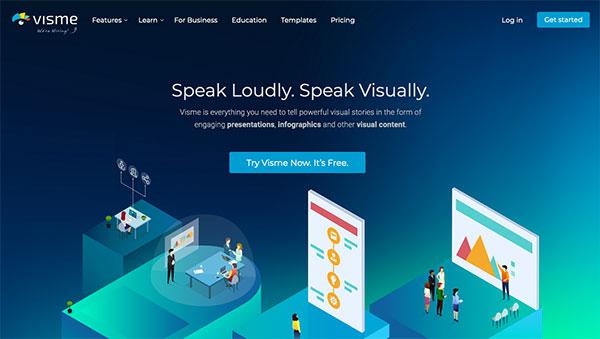 visme best info graphic website