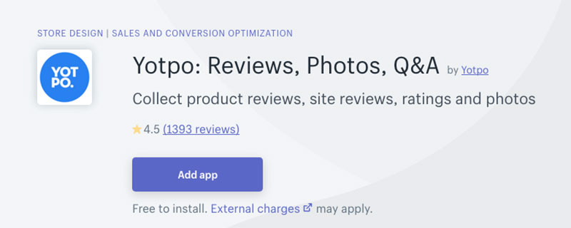 yotpo reviews app shopify