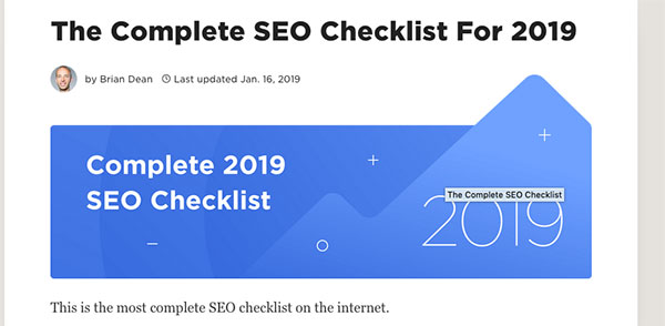 how to write checklist article
