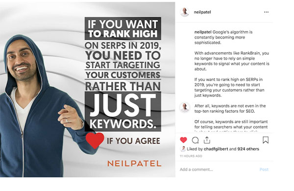 neil patel advice for engagement