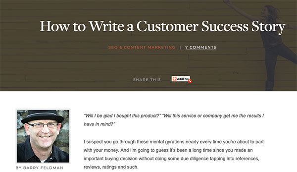 success stories content marketing tips