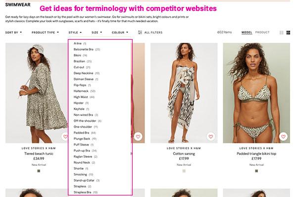 inspiration keyword competitor website