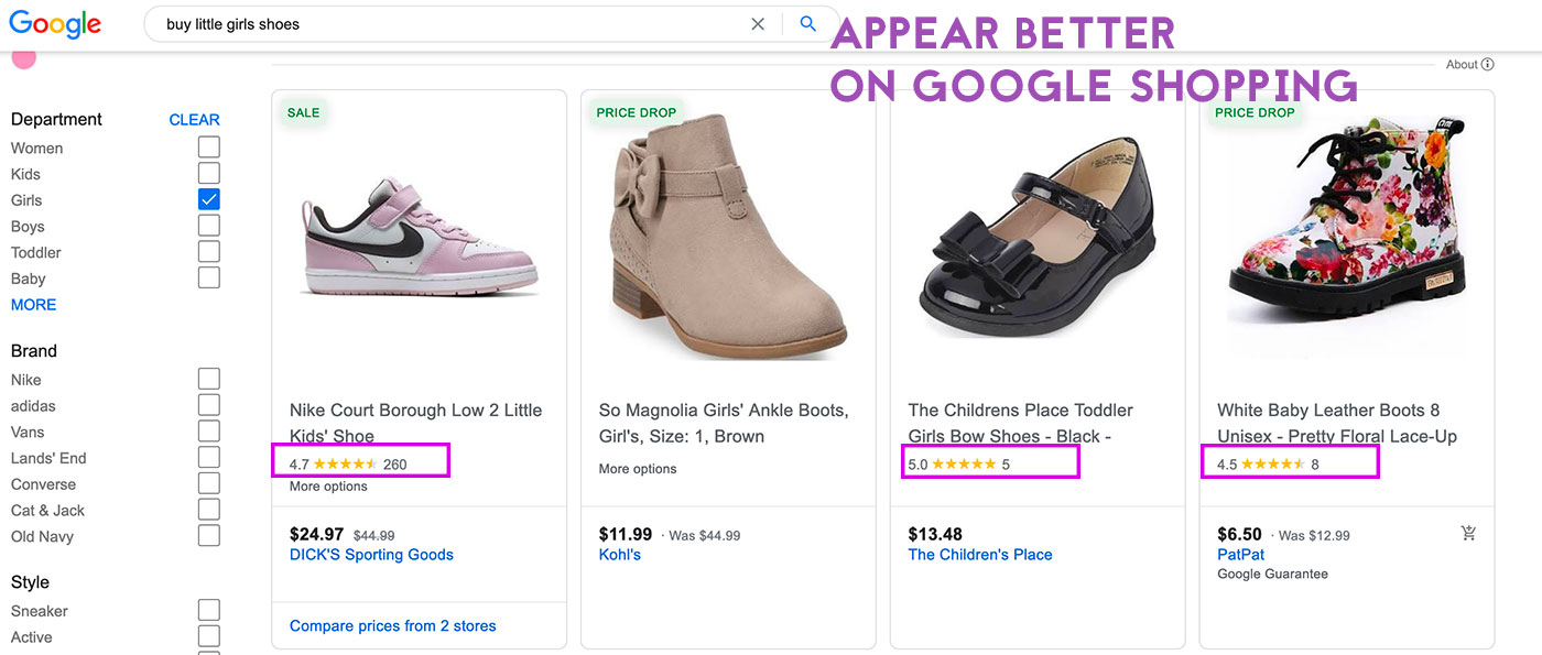 google shopping feed shopify rich snippets