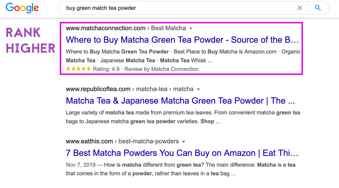 shopify rich snippets rank higher